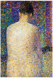 Georges Seurat Study of a Model 2 Art Print Poster Poster