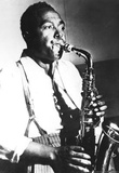 Charlie Parker Playing Sax Archival Photo Music Poster Print Masterprint