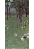 Gustav Klimt (After the Rain, Garden with Chickens in St. Agatha) Art Poster Print Photo