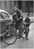 Boys Riding Bicycle 1944 Archival Photo Poster Prints