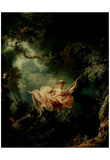 Jean-Honoré Fragonard (The Swing) Art Poster Print Photo