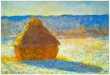 Claude Monet Haystacks in Snow Art Print Poster Prints