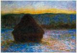 Claude Monet Haylofts Thaw Sunset Art Print Poster Poster