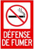 Defense De Fumer French No Smoking Sign Poster Posters