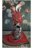 Claude Monet (Madame Monet en Costume Japonais) Art Poster Print Poster