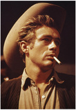 James Dean in Giant Movie Poster Photo