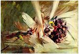 Giovanni Boldini The Pansy Art Print Poster Photo