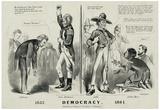 Democracy 1832 Political Art Print Poster Prints
