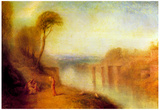 Joseph Mallord Turner Landscape with a Woman with a Tambourine Art Print Poster Prints
