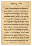 Gettysburg Address Full Text Poster Print Posters