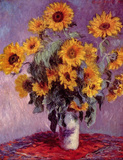 Claude Monet (Sunflowers) Art Poster Print Masterprint