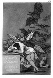 "Francisco de Goya y Lucientes (Follow the ""Caprichos,"" Sheet 43: The dream of reason Poster Masterprint"