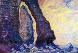 Claude Monet La Porte d&#39;Aval and the Needle at Etretat Art Print Poster Masterprint