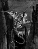 "Gustave Doré (Illustration to Dante's ""Divine Comedy,"" Inferno - Flying Beast) Art Poster Print Masterprint"