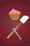 Cupcake - Whisk and Spatula Poster Masterprint