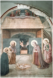 Fra Angelico Birth of Christ Art Print Poster Prints