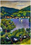 August Macke Tegern Sea Landscape Art Print Poster Posters