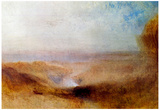 Joseph Mallord Turner Landscape with a River Art Print Poster Posters