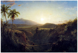 Frederick Edwin Church Scene in the Andes Art Print Poster Posters