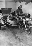 Dog in Motorcycle Sidecar Archival Photo Poster Photo