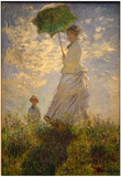 Claude Monet (Woman with a Parasol, 1875) Art Poster Print Posters