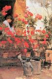 Childe Hassam Red Geraniums Art Print Poster Masterprint