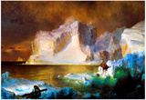 Frederick Edwin Church Iceberg Art Print Poster Posters