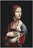 Leonardo da Vinci (Portrait of a Lady with an Ermine) Art Poster Print Posters