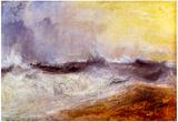 Joseph Mallord Turner Waves Breaking against the Wind Art Print Poster Prints
