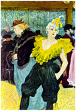 Henri de Toulouse-Lautrec The Clowness Art Print Poster Posters