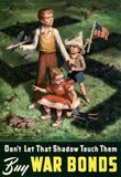 Don't Let That Shadow Touch Them Anit-Nazi Buy War Bonds WWII Propaganda Art Print Poster Masterprint