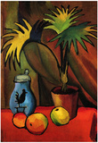 August Macke Still Life with Palms Art Print Poster Poster