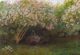 Claude Monet Repos Sous les Lilas 1872 Art Print Poster Masterprint