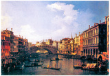 Canaletto The Rialto Bridge from the South Art Print Poster Prints