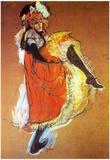 Henri de Toulouse-Lautrec Jane Avril Dancing Art Print Poster Print by Henri de Toulouse-Lautrec