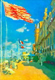 Claude Monet Hotel des Roches Noires in Trouville Art Print Poster Masterprint