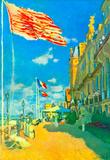 Claude Monet Hotel des Roches Noires in Trouville Art Print Poster Masterprint