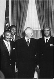 Dwight Eisenhower (With Civil Rights Leaders, 1957) Poster Posters