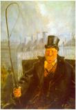 Christian Krohg Paris Cab Driver Art Print Poster Prints