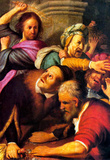 Christ Drives Out Money Changers by Rembrandt Art Print Poster Masterprint