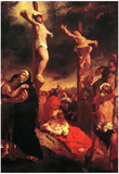 Eugene Delacroix Christ at the Cross Art Print Poster Plakater