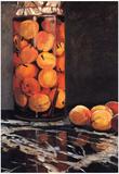 Claude Monet Pot of Peaches Art Print Poster Posters