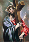 El Greco Christ Carrying the Cross 3 Art Print Poster Posters