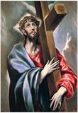 El Greco Christ Carrying the Cross 3 Art Print Poster Plakaty