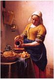 Johannes Vermeer Milk Maid Art Print Poster Poster