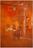 James Whistler Venetian Courtyard Art Print Poster Prints