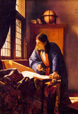 Jan Vermeer van Delft (The Geographer) Art Poster Print Masterprint