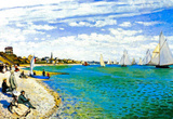 Claude Monet Regatta at Saint Adresse Art Print Poster Masterprint