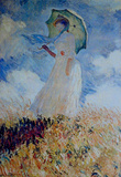 Claude Monet Lady with Umbrella Art Print Poster Masterprint
