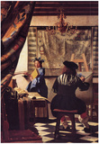 Jan Vermeer van Delft (The Allegory of Painting) Art Poster Print Posters